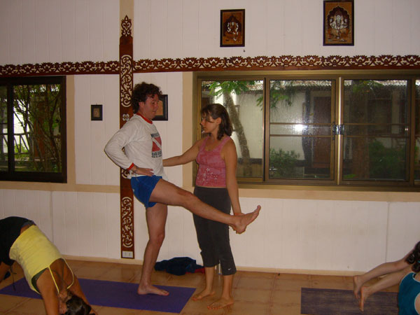 Jessica teaching at Yoga Thailand