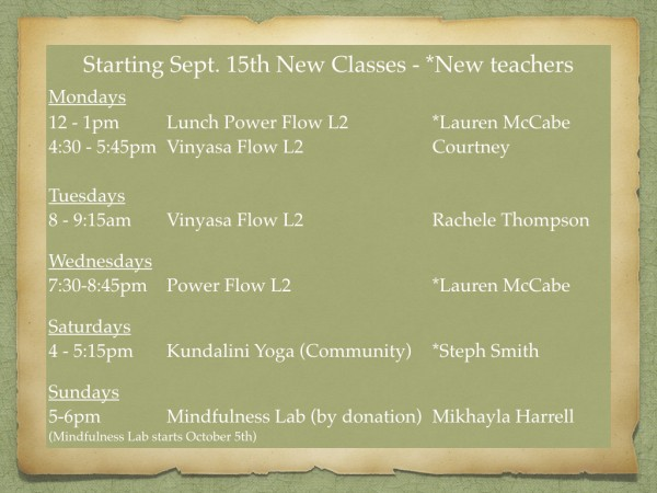 Post image for New Classes, New Teachers