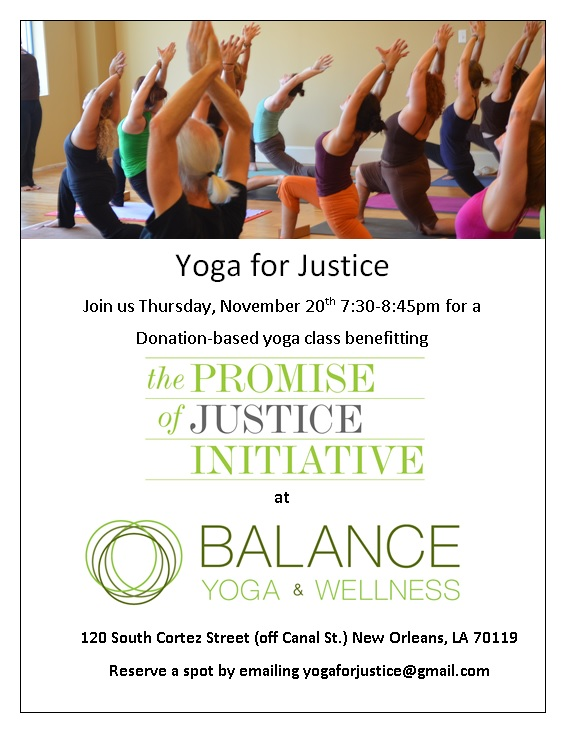 Post image for Yoga for Justice Fundraiser: Thursday Nov. 20th 7:30-8:45pm