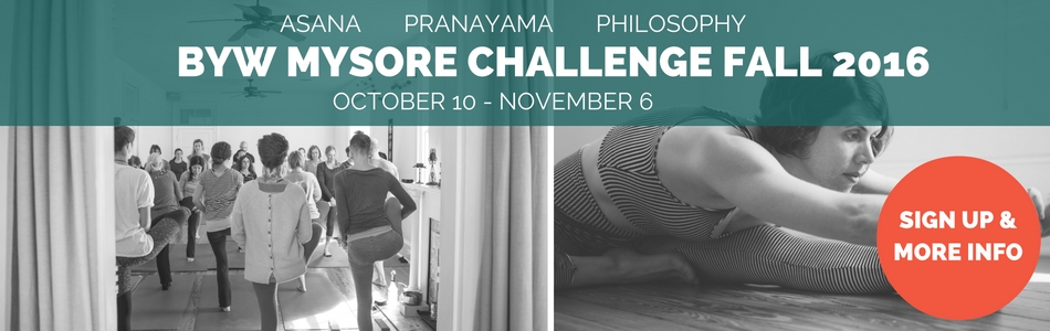 Change Your Yoga Story: Fall Mysore Yoga Challenge Starts October 10th