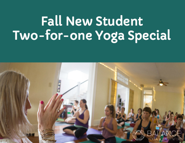 Post image for New Student Fall Yoga Special