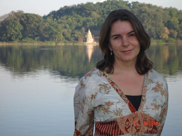 Jessica Blanchard near Nagpur, India 2006