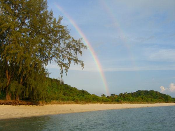 A rainbow in Koh Samui, Thailand near Yoga Thailand