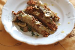 Meatless Loaf with Mushroom Gravy