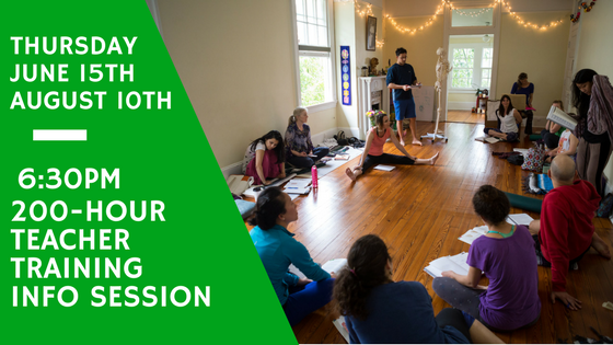 Post image for Yoga Teacher Training Info Session: Thursday, June 15th at 6:30pm