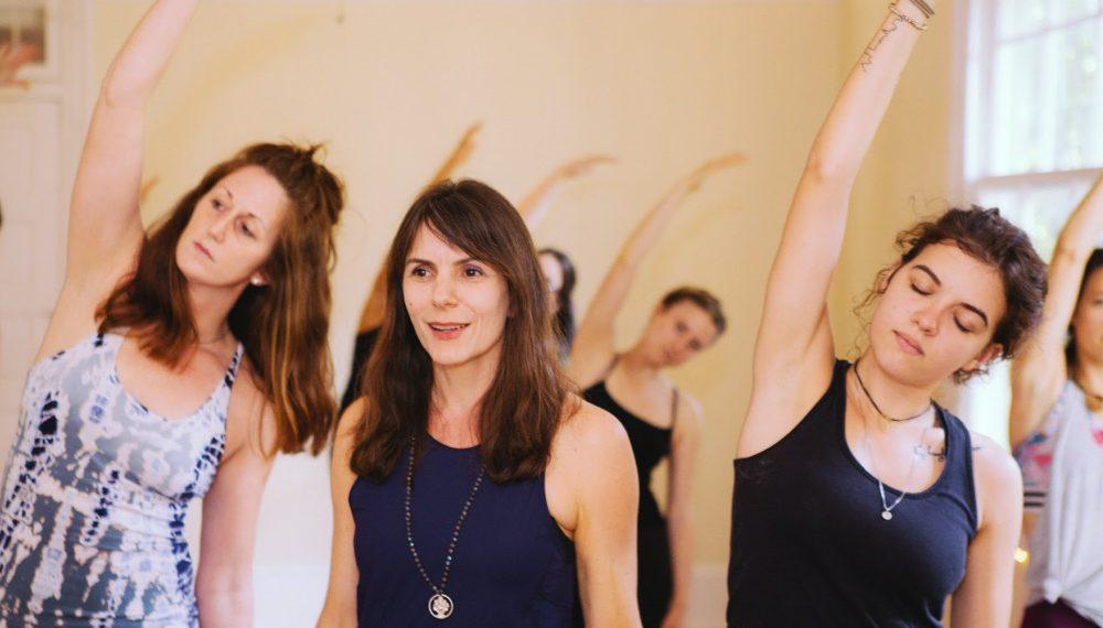 Jessica Blanchard teaching at Balance Yoga & Wellness