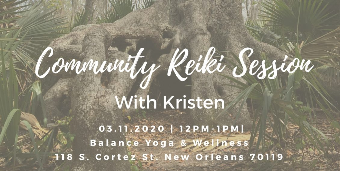 Reiki Session with Kristen at Balance Yoga